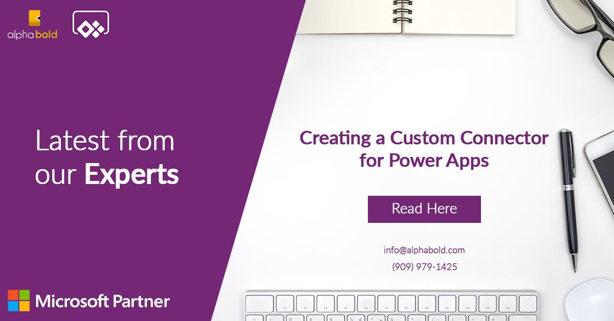 Custom Connector for Power Apps
